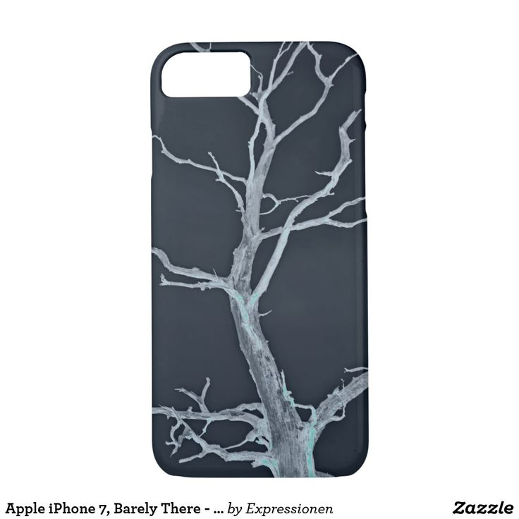Apple iPhone 7, Barely There - Safe it! #smartphone #cover #cases #iphone #handy #handyhuelle #otterbox #tree #baum #kahl #schwarzweiss #blackandwhite #sw #bw