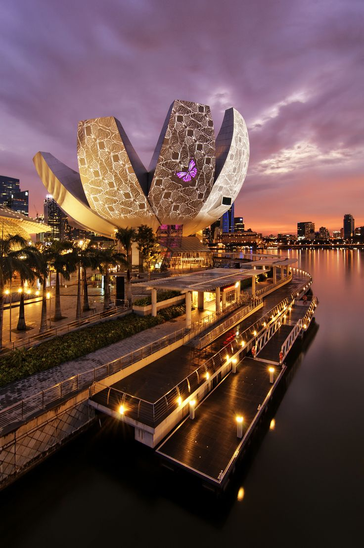 Art Science Museum at Marina Bay Sands - Singapore. Gorgeous <3