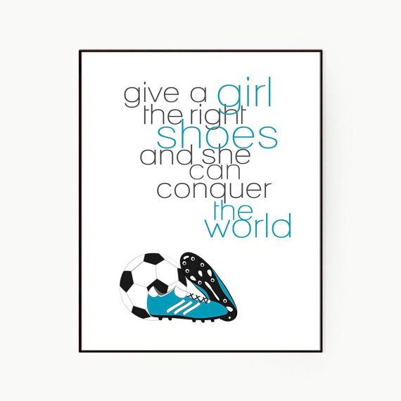 Soccer Poster Girl's Room-Unique Gift For Girl Give by inkanddolly