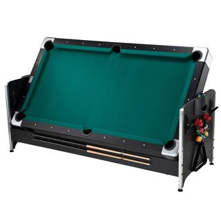 Game Table Combining Billiards, Table Hockey And Table Tennis. Table Size:  80 Inches Long X 44 Inches Wide X 32 Inches High. Billiards Side Includes  Drop ...