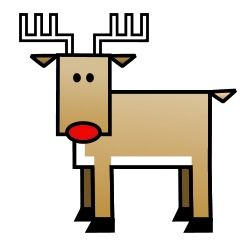 It's Christmas time! The cartoon reindeer is ready to bring some presents: Fun drawing lessons! :)