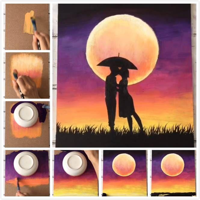 6 Super einfache Malerei Kunst für Inneneinrichtungen – Malerei für Anfänger – DIY – learning to relax