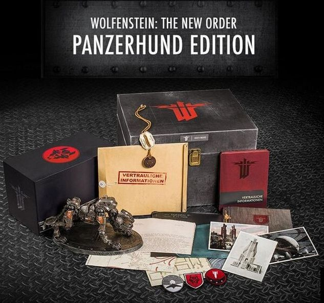 superbe edition collector de bethesda pour la sortie de wolfenstein the new order tra s
