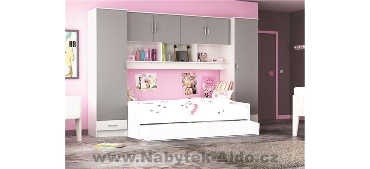 Dětský pokoj pro jednu slečnu s přistýlkou