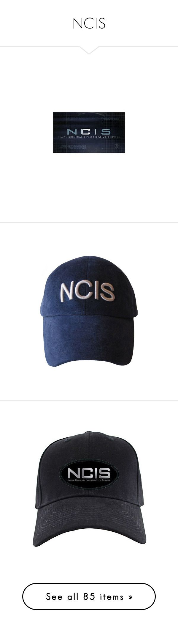 """""""NCIS"""" by lily-mae ❤ liked on Polyvore featuring ncis, accessories, hats, cap hats, police, spy, stuff, supernatural, random and tv"""