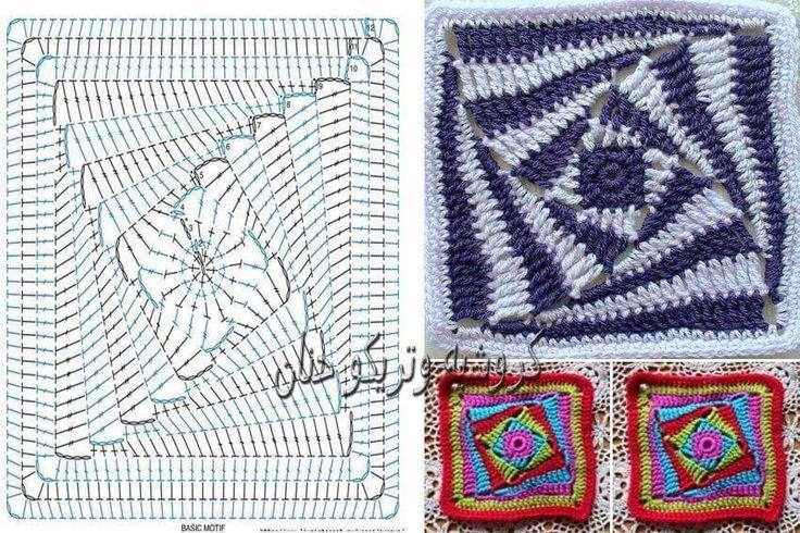 Mejores 161 imágenes de graficos de crochê en Pinterest   Ganchillo ...