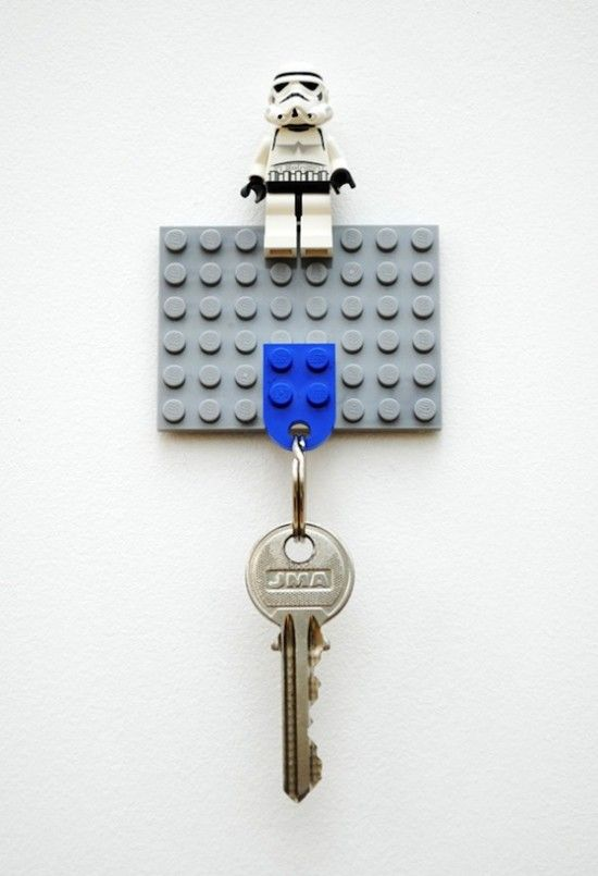Instead of a key hang an invite from the hook