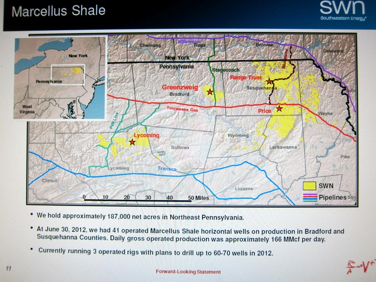 Southwestern Energy's Marcellus Shale acreage as of June 2012