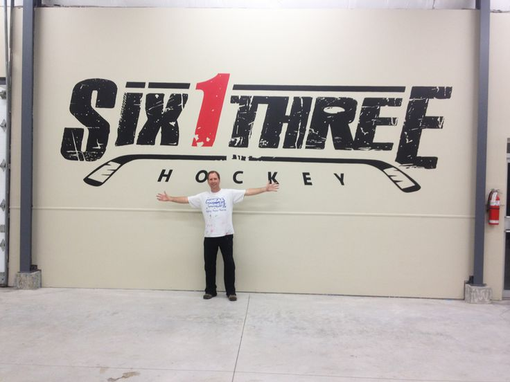 Six 1 Three is a new business in Stittsville that enables you to take your hockey skills to a whole new level! This giant logo was hand painted by Mural Magic.