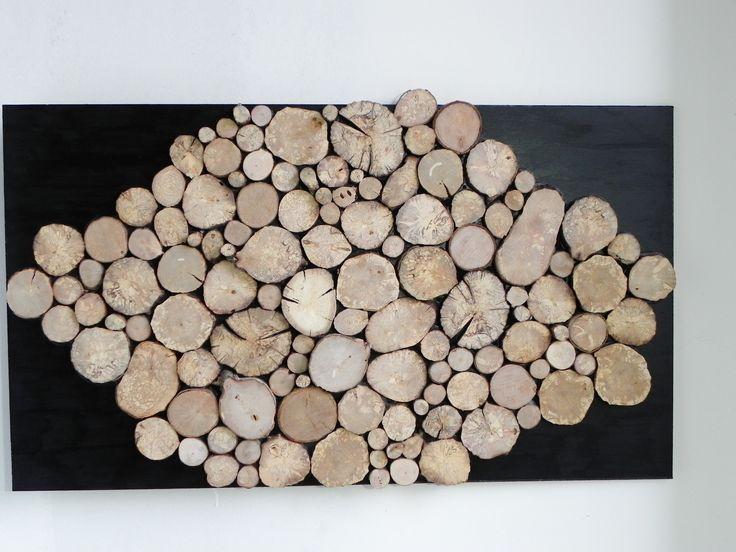 Les 25 meilleures id es de la cat gorie rondelles de bois sur pinterest art - Deco avec rondin de bois ...