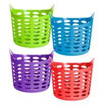 Colorful Plastic Laundry Baskets, dollar tree