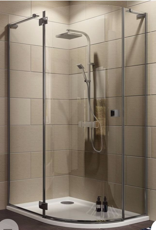 Cooke & Lewis, Luxuriant Offset Quadrant Shower Enclosure/Hinged Door, W 1200mm x D 900mm x H 1950mm