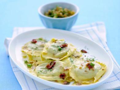 spinazie ravioli met venkel en ansjovis