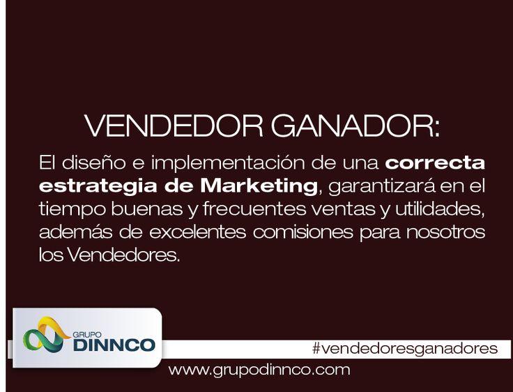 Vendedores Ganadores: El diseño e complementación de una correcta estrategia de Marketing, garantizará en el tiempo buenas y frecuentes ventas y utilidades, además de excelentes comisiones para nosotros los Vendedores. #vendedoresganadores