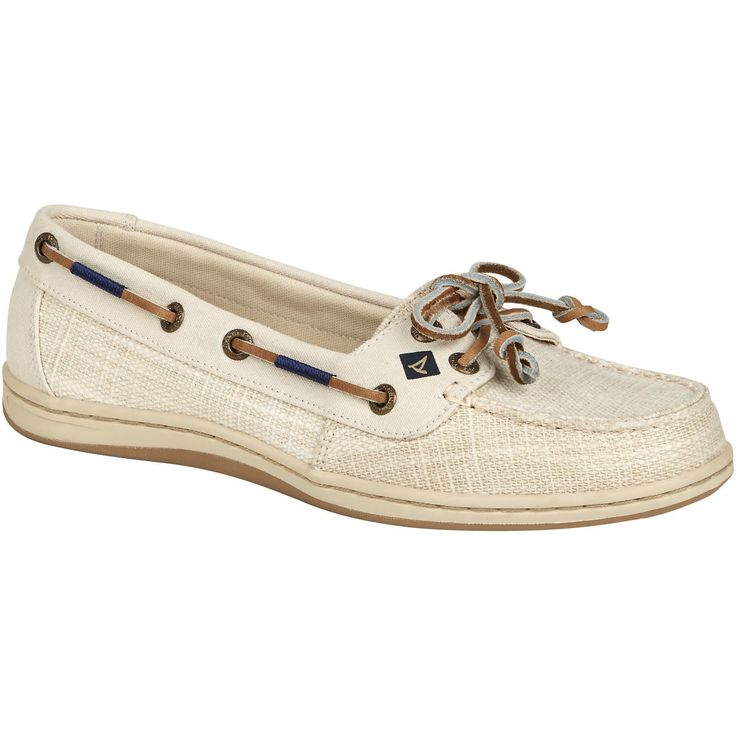 SPERRY Women's Firefish Canvas Boat Shoe - Linen. #sperry #shoes #