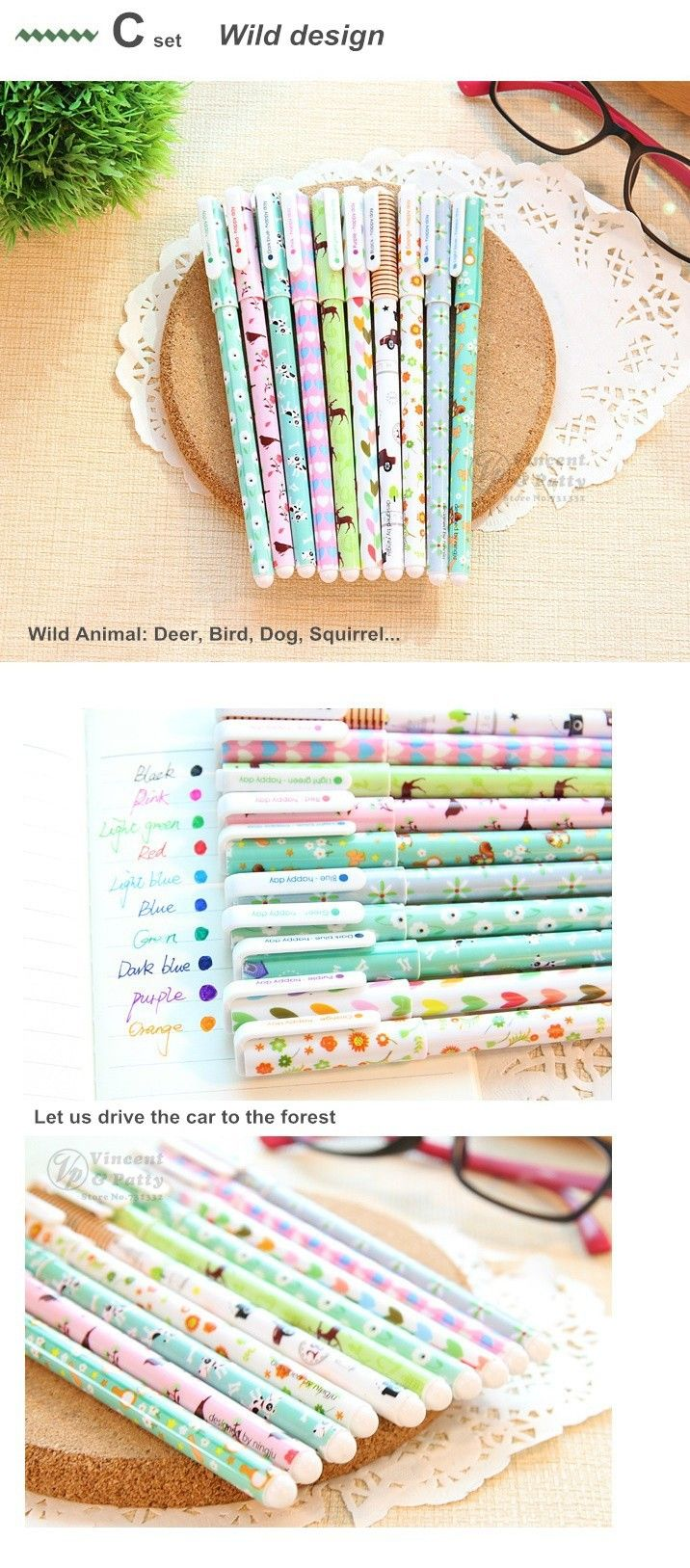 Aliexpress.com : Buy 10 pcs/set Color Gel pen Kawaii Stationery korean flower Canetas escolar papelaria zakka Office material school supplies 6230 from Reliable accessories for the psp suppliers on V&P Home Beauty Co.,Ltd   Alibaba Group