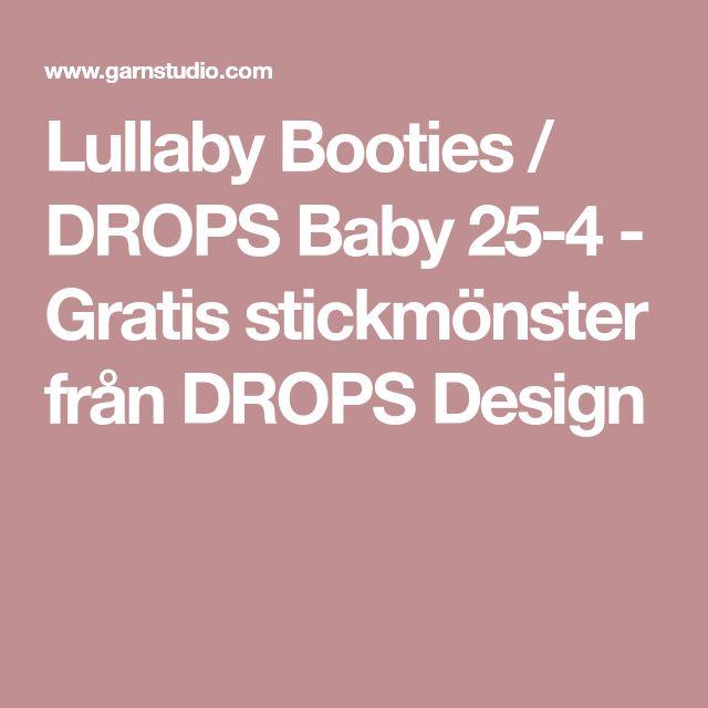 Lullaby Booties / DROPS Baby 25-4 - Gratis stickmönster från DROPS Design