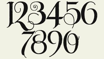 Fancy Number Fonts | Letterhead Fonts / LHF Unlovable / Old English fonts
