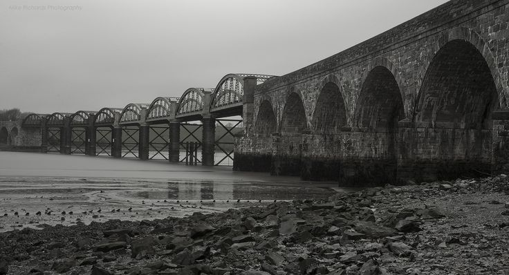 Tavy Bridge is a railway bridge across the mouth of the River Tavy just east of its confluence with the River Tamar. It was built c1890 by the Plymouth, Devonport and South Western Junction Railway (PDSWJ) to carry the line from St Budeaux to Bere Alston,now part of the Tamar Valley Line. | Flickr - Photo Sharing!