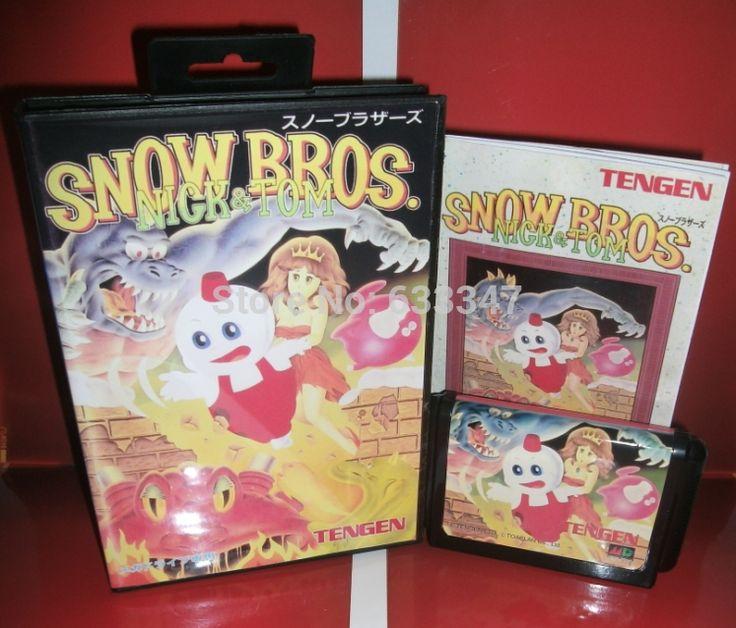 Sega карточных игр анти-снег марио с коробкой и руководство для Sega MegaDrive игровая консоль системы 16 бит MD карты