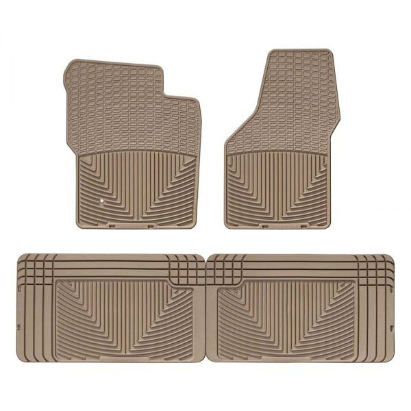 WeatherTech W19TN-W25TN Series Tan Front and Rear All-Weather Floor Mats - All-Weather Floor Mats The WeatherTech(R) All-Weather Floor Mats have deeply sculpted channels designed to trap water, road salt, mud and sand. Our proprietary engineered odorless resin ensures that these mats will not curl, crack or harden in sub-zero weather. Our All-Weather Floor Mats also have anti-skid ridges to prevent shifting in your vehicle and come with a protective, non-stick finish to make cleanup quick…