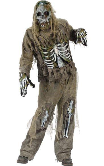 Adult Skeleton Zombie Halloween Costume
