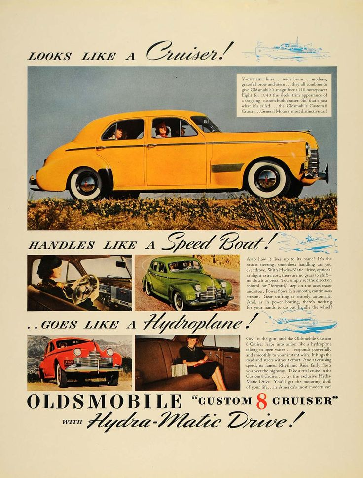 1940 Ad Oldsmobile Custom 8 Cruiser Car Yellow Green - ORIGINAL ADVERTISING F4A