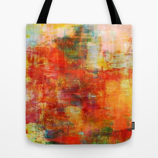"""""""Autumn Harvest"""" by Ebi Emporium on @Society6 Canvas Art Tote Bag, Modern Fashion Accessories Colorful Fine Art Abstract Fall Painting Burnt Orange Red Green Yellow #autumn #colorful #orange #abstract #fineart #art #painting #boldcolors #fall #totebag #canvastote #canvasbag #bag #tote #fallfashion #shoulderbag #carryall #EbiEmporium #Society6 #bookbag"""