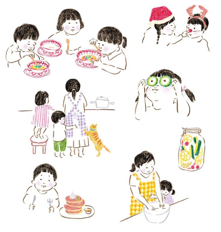 【Work】mook本イラストカット1 / 『野菜は火の力でおいしくなる かんたん たっぷり 野菜料理』編/東京ガス「食」情報センター  小学館発行