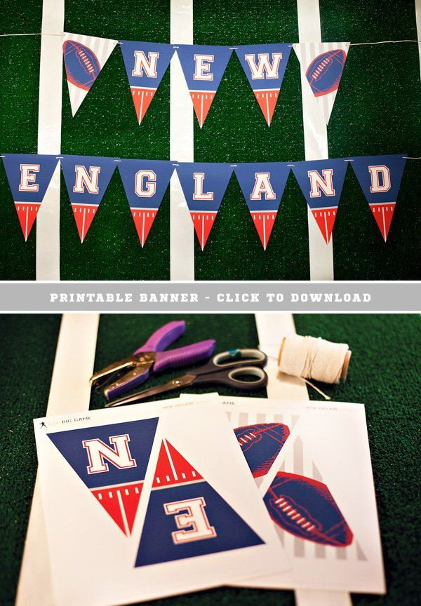 Free Printable New England Patriots Football Banner
