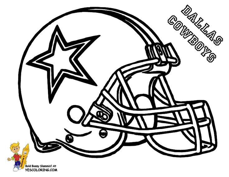 Anti-Skull Cracker Football Helmet Coloring Page | NFL Football