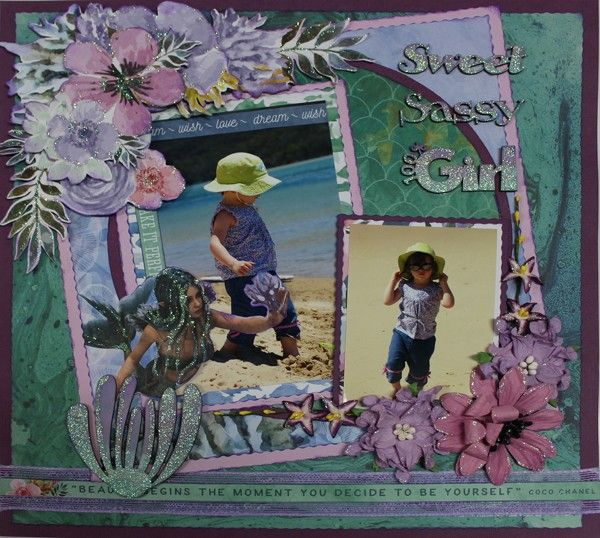 The Sassiest Little Mermaid - single page from Paper Roses Scrapbooking ♥ ♥ ♥
