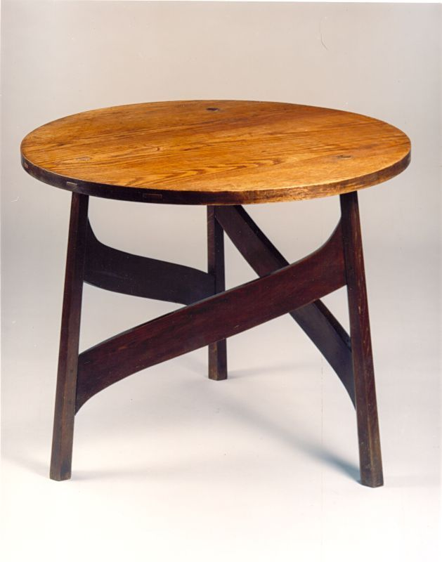 A Large Arts and Crafts Ash Occasional Table, designed by M.H.Baillie Scott, and made by J.P.White, c.1901.  Only two tables of this design are known. The other, a smaller version, was sold by Christies in London on 7th November 2002.