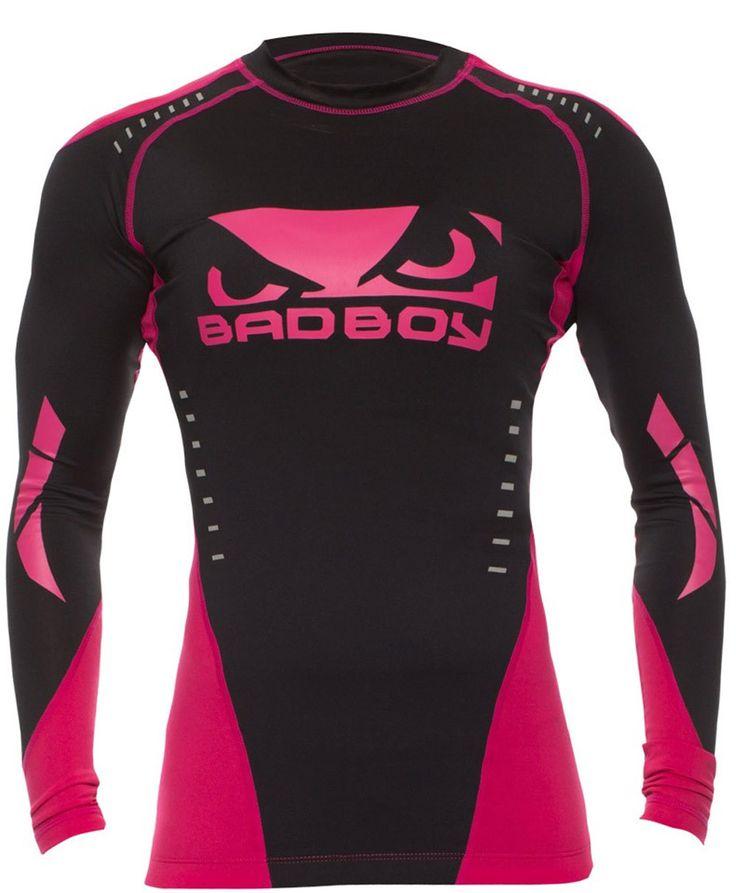 Bad Boy Women's Sphere Jiu Jitsu Rash Guard Black - Pink