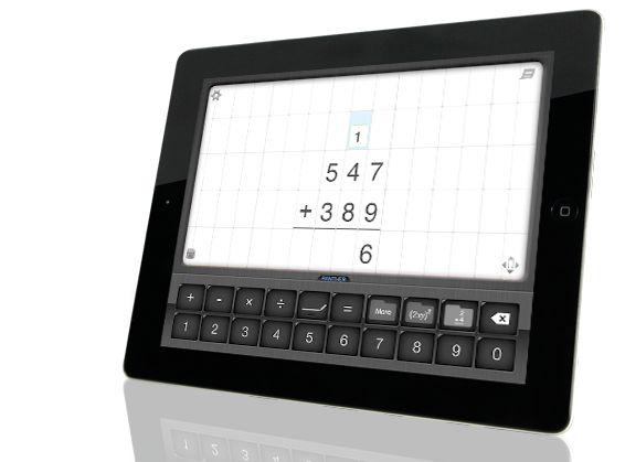 Math Paper on an iPad - stöd för den person som har arbetsamt att skriva med penna.