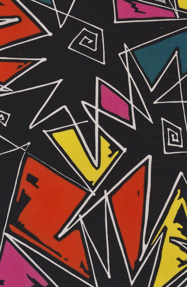 1980s 'Pow' print from the Wave collection by Alexander Henry Fabrics