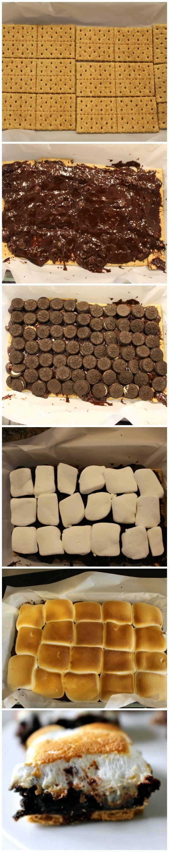 How to make a S'mOreo - Smore Oreo Brownie Bar
