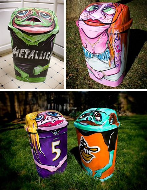 Trash Can Art? 28 Garbage Cans That Belong In A Gallery | WebUrbanist