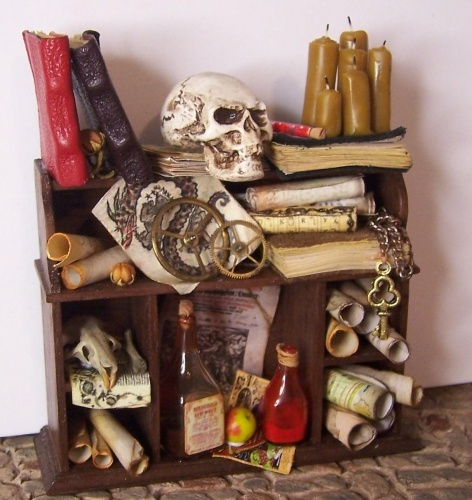scrolls haunted dollshaunted dollhousedollhouse miniatureshalloween - Miniature Halloween Decorations