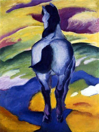 """Franz Marc, """"Caballo azul II"""", 1911, Kunstmuseum, Berna. Foto tomada de http://prunier.canalblog.com"""