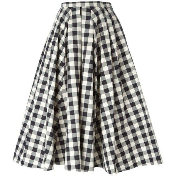 Michael Kors Gingham Check Skirt found on Polyvore