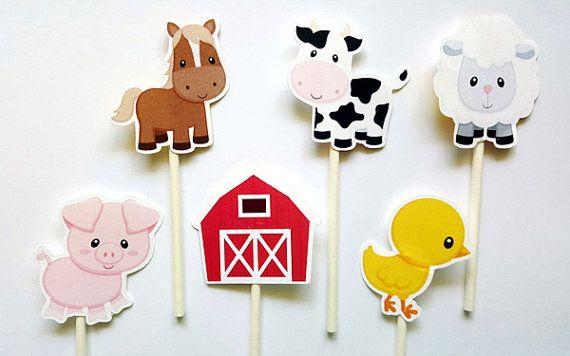 Granja animales centros de mesa pieza central de la vaca