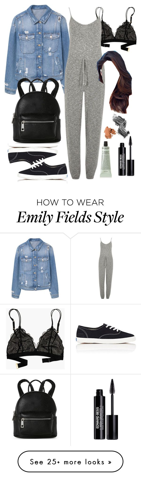"""Emily Fields inspired college outfit"" by liarsstyle on Polyvore featuring MANGO, Madewell, River Island, Keds, Street Level, Grown Alchemist, Edward Bess, Illamasqua, Bobbi Brown Cosmetics and casual"
