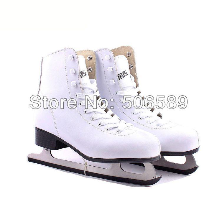 Envío gratis zapatos del patín de hielo de color blanco #33 #42 ---