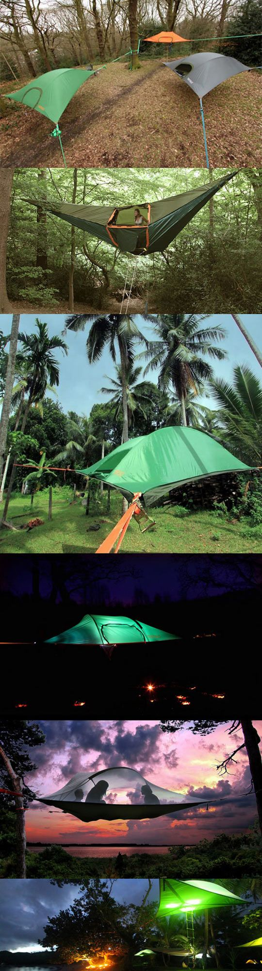 cool-tree-tents-camping-stairs-light