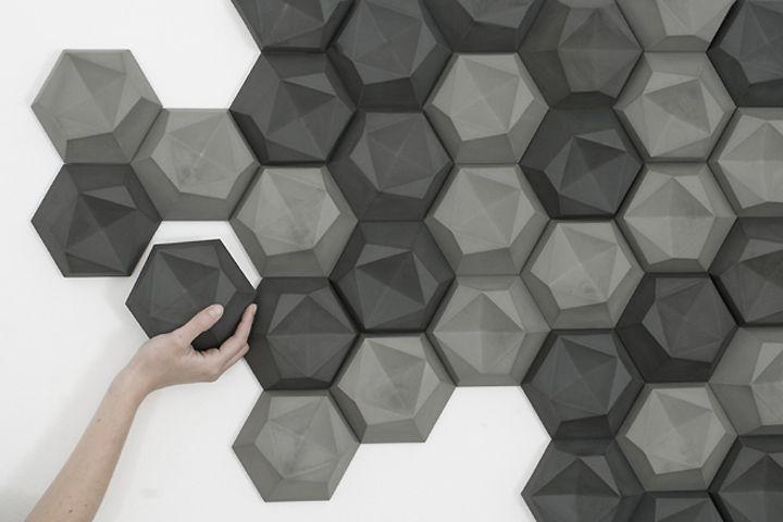 edgy room shaping tiles by Patrycja Domanska