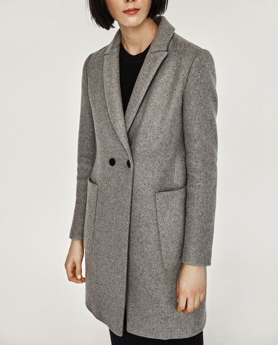 ZARA - WOMAN - MASCULINE DOUBLE BREASTED COAT