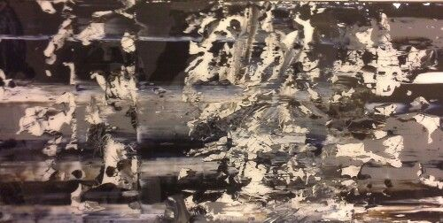 Abstract No. 15101 Acrylic and Resin on Canvas 12x24