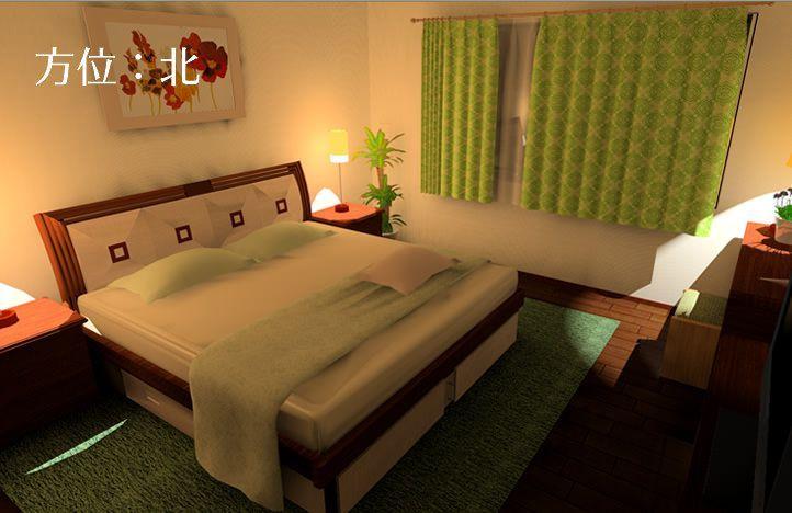 北にある寝室の風水間取り&インテリアコーディネート