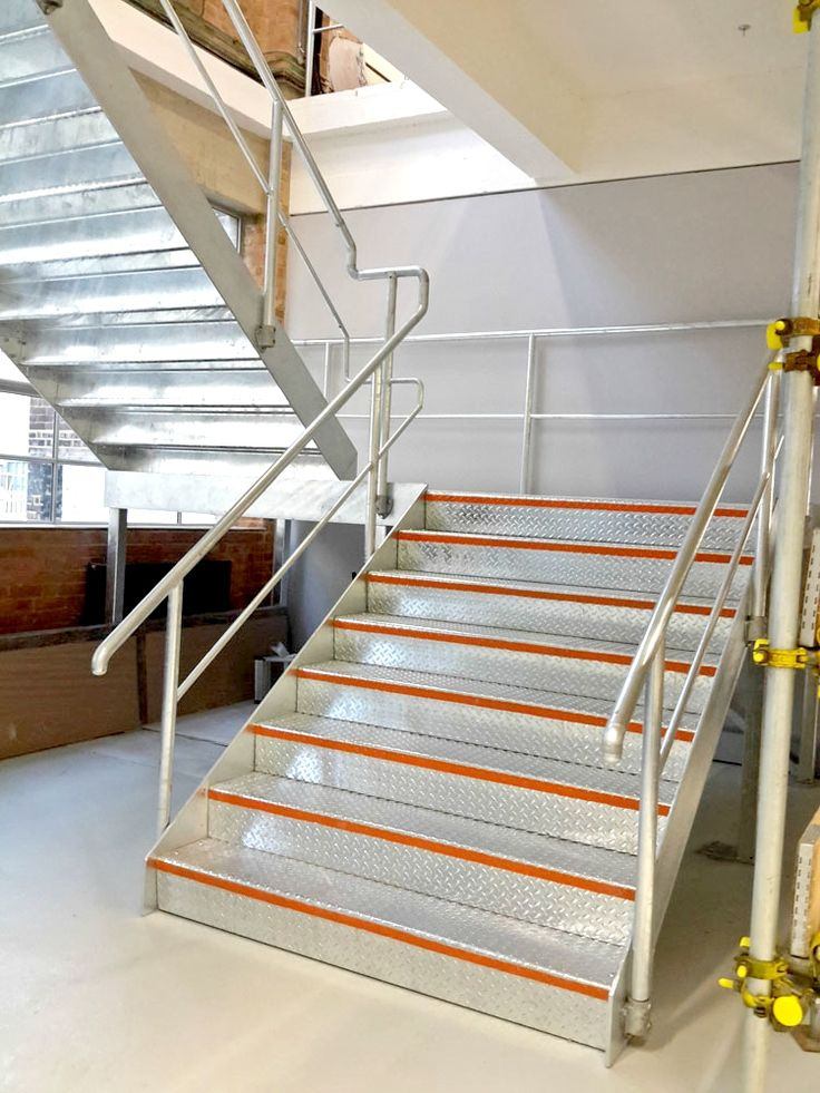Best Interior Galvanised Steel Staircase And Handrail With Bold 400 x 300
